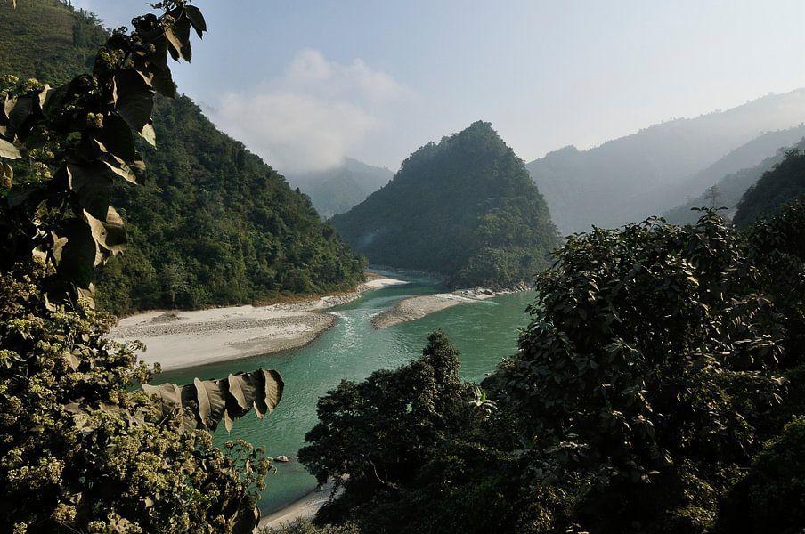 Merging Rivers in Nepal