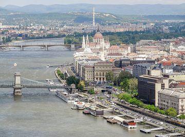 Luchtfoto van Boedapest van Achim Prill