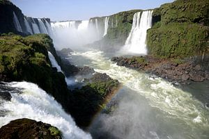 Landschap: Watervallen van Iguazu op de grens van Brazilië en Argentinië