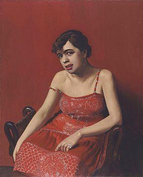 Rumänische Frau im roten Kleid, Félix Vallotton