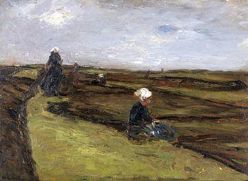 Die Netzflickerinnen, MAX LIEBERMANN, 1887 von Atelier Liesjes