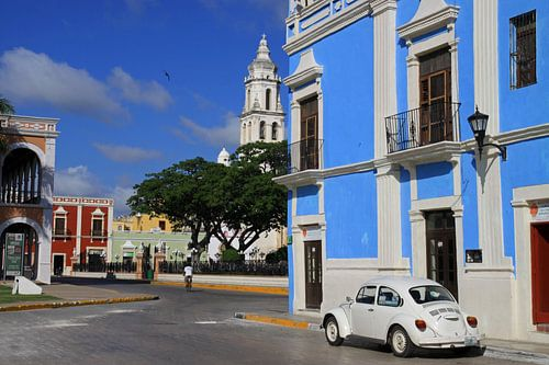 Straatbeeld Campeche