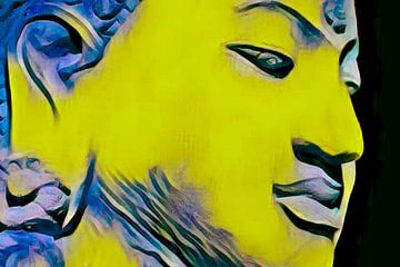 Buddha Obsession 20201 - Gelb von Michael Ladenthin