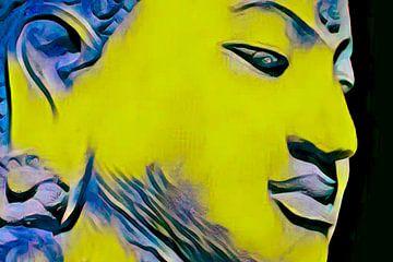 Boeddha-obsessie 20201 - Geel van Michael Ladenthin