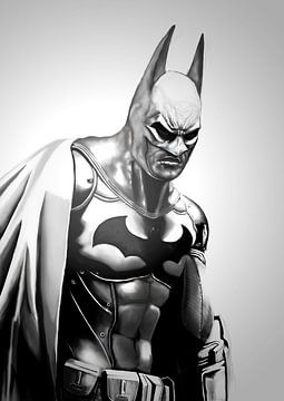 Batman the dark angel, digitaal schilderij van Atelier Liesjes