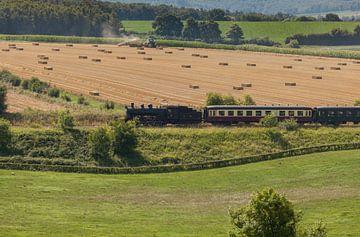 Stoomtrein door het Zuid-Limburgse heuvelland