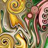 Abstrakte Kunst - Fluid Painting Deformation von Patricia Piotrak Miniaturansicht