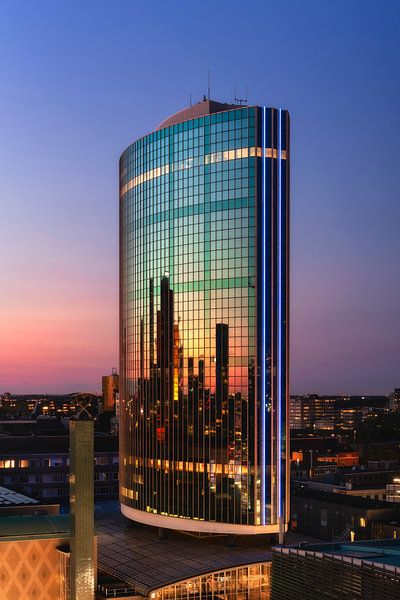 WTC Rotterdam Zonsondergang van Vincent Fennis