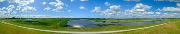 Reevediep-Wasserstrasse bei Kampen im IJsseldelta-Panorama von Sjoerd van der Wal