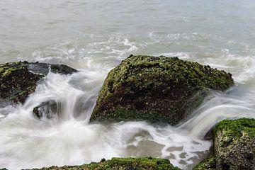 Wilde Golven over rotsen