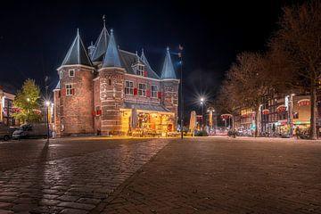 nachtopname De Waag Amsterdam van RONALD JANSEN