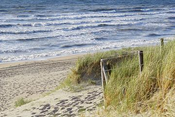 Strand en zee sur Dirk van Egmond