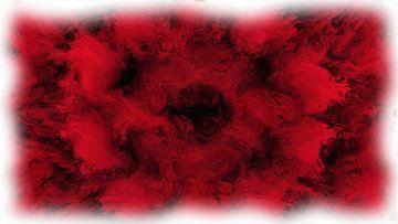 Abstract rood zwart van Maurice Dawson