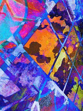 Modern, Abstract Digitaal Kunstwerk - The Imaginary World Outside (Links) van Art By Dominic