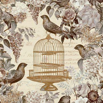 Blütenromanze und Vögel