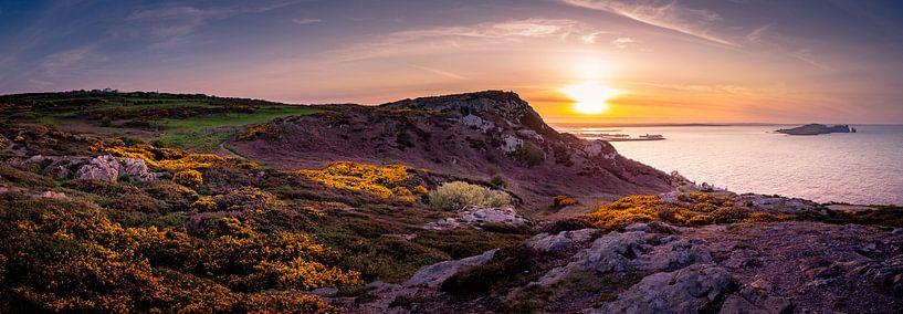 Panorama Howth bij zonsondergang von Ronne Vinkx