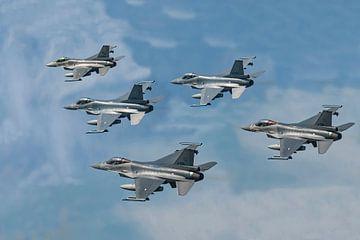 F16's Niederlande (Zusammenstellung), Leeuwarden. von Gert Hilbink