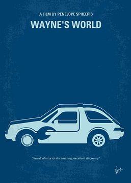 No211 My Waynes World minimal movie poster van Chungkong Art