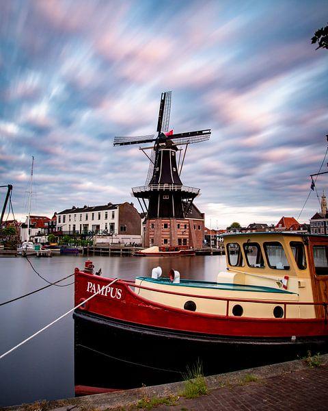 Le moulin à vent de l'Adriaan à Haarlem sur Arjen Schippers