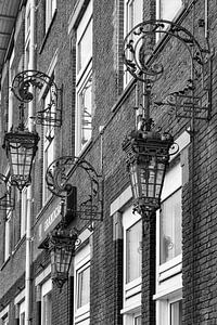 Gevellantaarns aan de Phoenixstraat in Delft, Nederland van