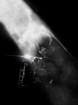 Saxofoon speler van Blckwork ..