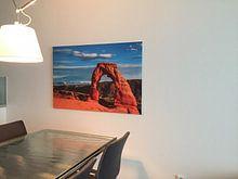 Klantfoto: Laat zonlicht op Delicate Arch, Utah van Rietje Bulthuis
