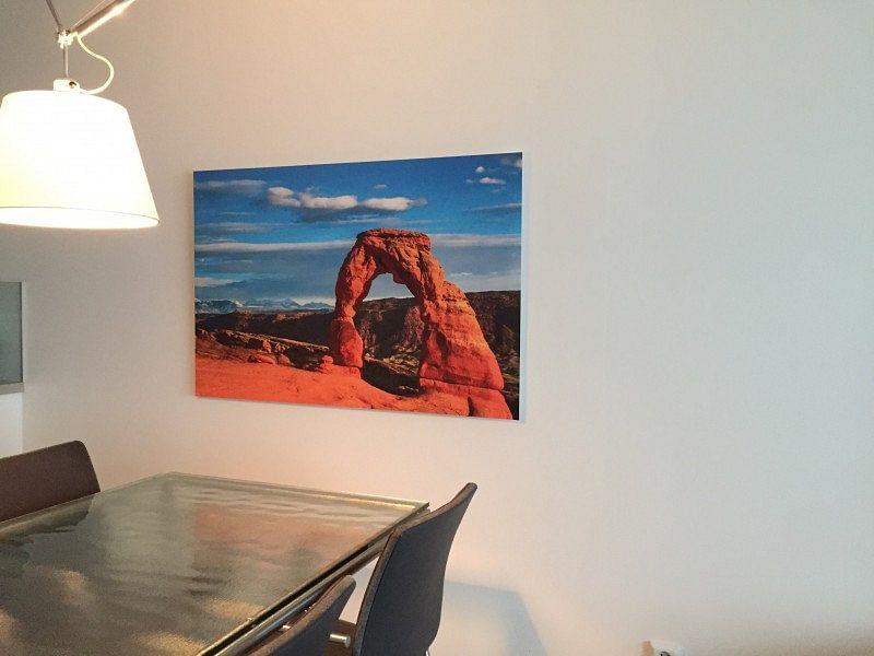 Photo de nos clients: Soit la lumière du soleil à la Delicate Arch, Utahla lumière du soleil à la Delicate Arch, Utah sur Rietje Bulthuis