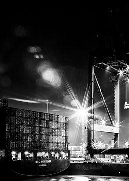 Havens Antwerpen (zwart-wit)