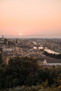 Zonsondergang In Florence, Italië van Henrike Schenk