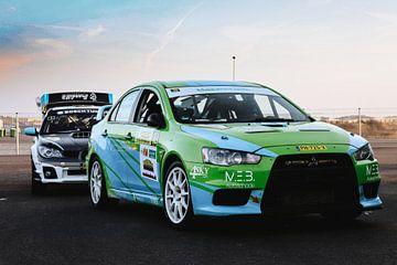 Subaru vs Mitsubishi van Richard Kortland
