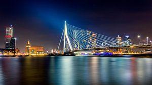Erasmusbrug Leuvenhoofd Avond