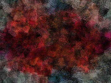 Abstrakter Grunge in Rot- und Blautönen von Maurice Dawson