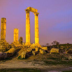 Tempel van Hercules in Amman, Jordanië van Bert Beckers