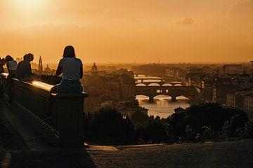 Ponte Vecchio tijdens zonsondergang van Studio Reyneveld