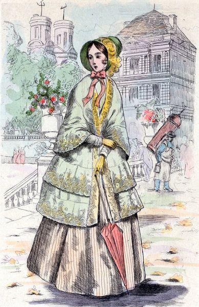 Mode 1848, Mode in het negentiende-eeuwse Parijs, Henri Boutet, (1851 1919) van Liszt Collection