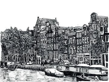 Herengracht Amsterdam Nederland van Hendrik-Jan Kornelis