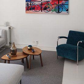 Klantfoto: Schilderij Utrecht met de Dom van Kunst Company, als print op doek