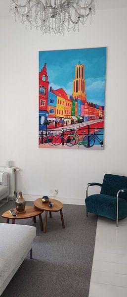 Klantfoto: Schilderij Utrecht met de Dom van Kunst Company