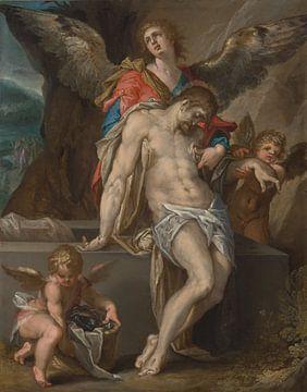 Der von Engeln unterstützte Leib Christi, Bartholomeus Spranger