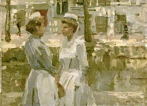 Dienstmeisjes op de Leidsegracht, Isaac Israels