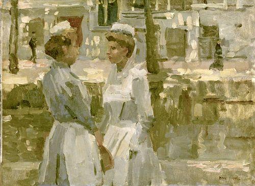 Dienstmeisjes op de Leidsegracht, Isaac Israels van Meesterlijcke Meesters