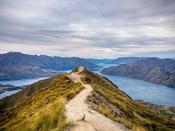 Het magische uitzicht vanaf Roy's Peak nabij Wanaka Nieuw-Zeeland van Rik Pijnenburg
