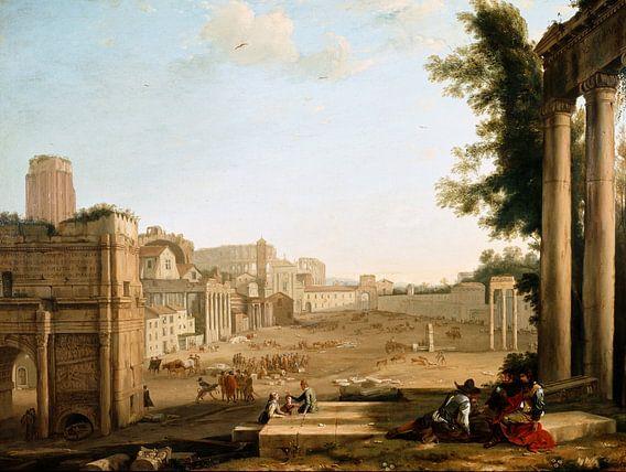 Claude Lorrain. Campo Vaccino, Rome van 1000 Schilderijen