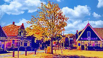 Dorfplatz Hippolytushoef, Wieringen von Digital Art Nederland