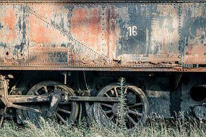 Verlaten Trein Wagon van Art By Dominic