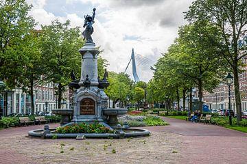 La fontaine Wilhelmina sur le Noordereiland à Rotterdam sur MS Fotografie | Marc van der Stelt
