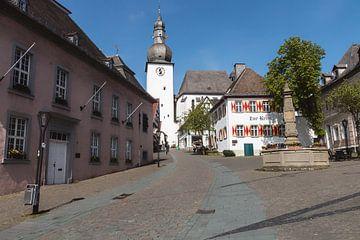 Une place de village dans un village allemand.
