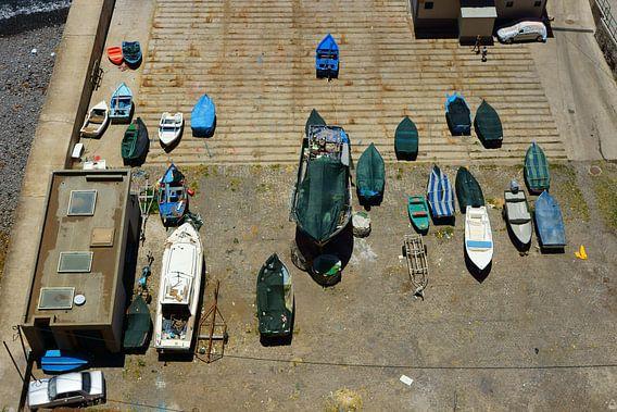 Vissersbootjes van Michel van Kooten