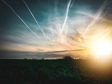 Sonnenaufgang Flämische Felder von Anthony De Rouck