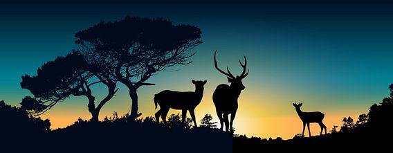 Family Deer van Harry Hadders